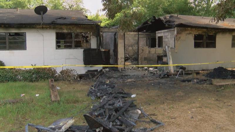 A nearby apartment complex on the 700 block of Crawford Drive caught fire Wednesday morning.