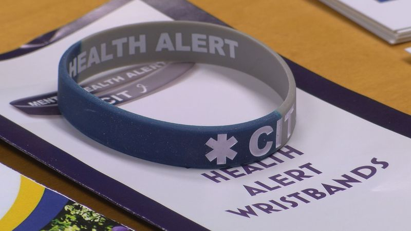 Mental Health Alert wristbands for CIT certified officers and those with mental illness...