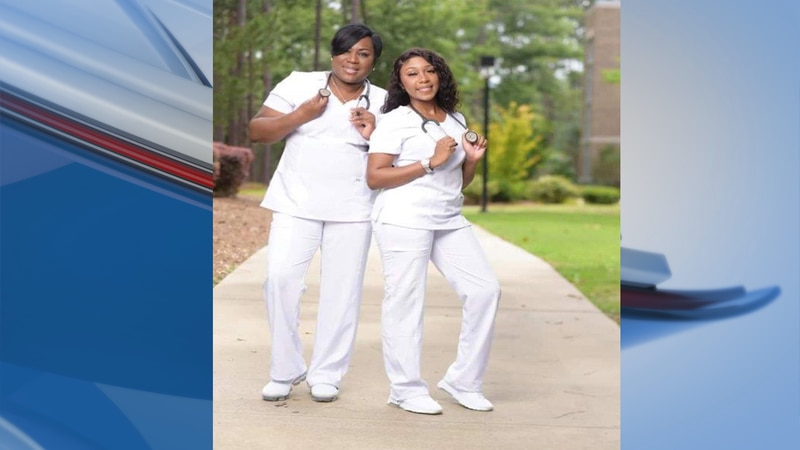 Barbara Daniels, left, and Iman Buckins, right, are a mother and daughter nursing pair.
