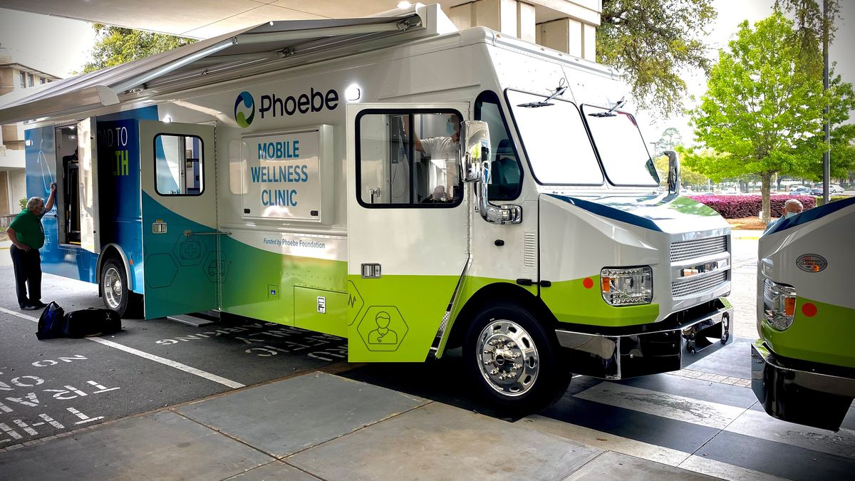 On of Phoebe's mobile wellness clinics.
