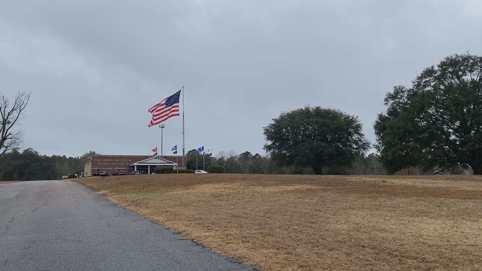 The post flew the flag in honor of those killed by the terrorist attacks on September 11, 2001.