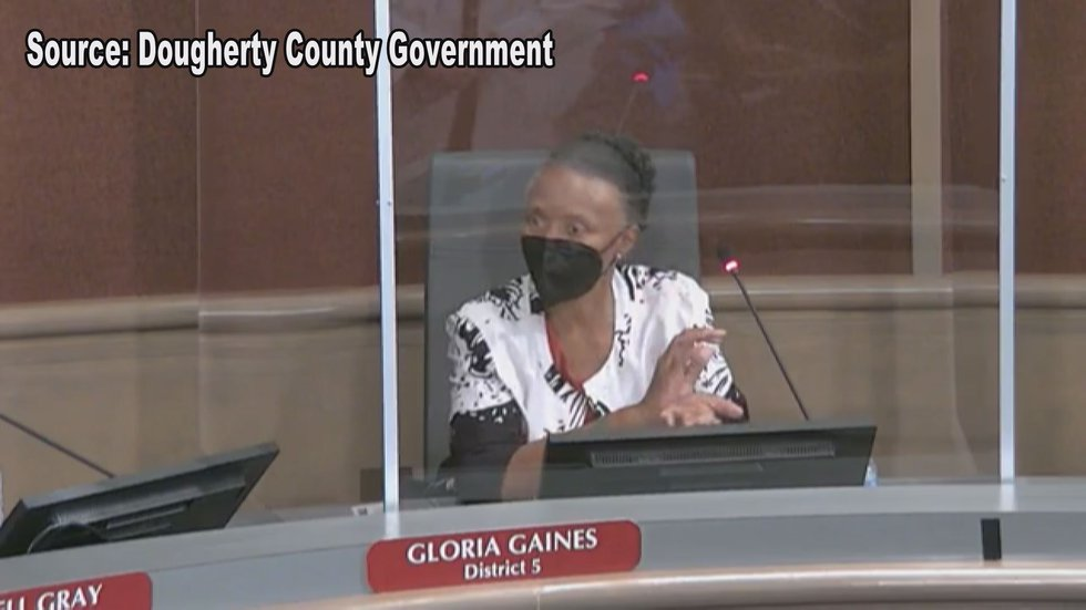 Gloria Gaines, the District 5 county commissioner