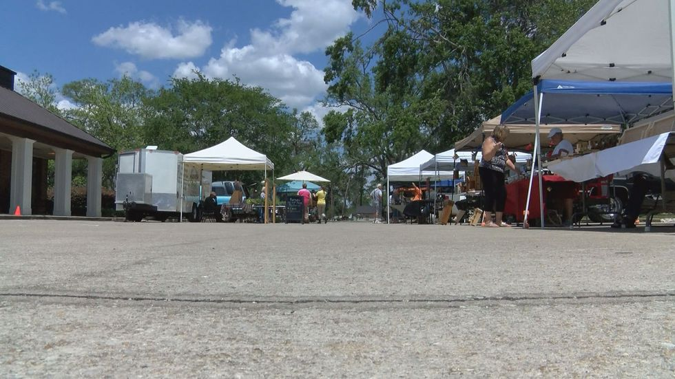The market moved to a parking lot until the park clean up was completed (Source: WALB)