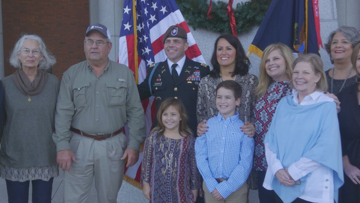 Jon Anderson was promoted to lieutenant colonel in Columbus on Monday.