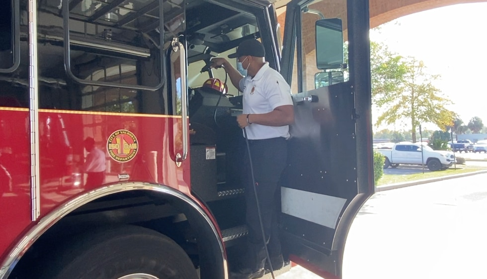 Valdosta Fire Department purchased an AeroClave unit to sanitize.
