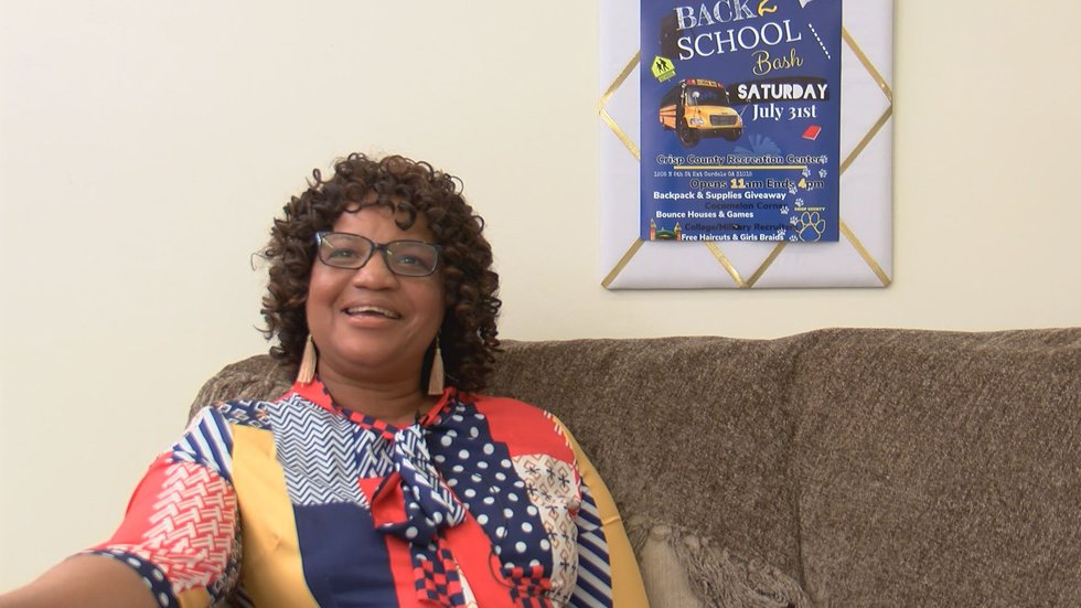 Pastor Lillie Weaver said there will be more things to give away at the back-to-school bash.
