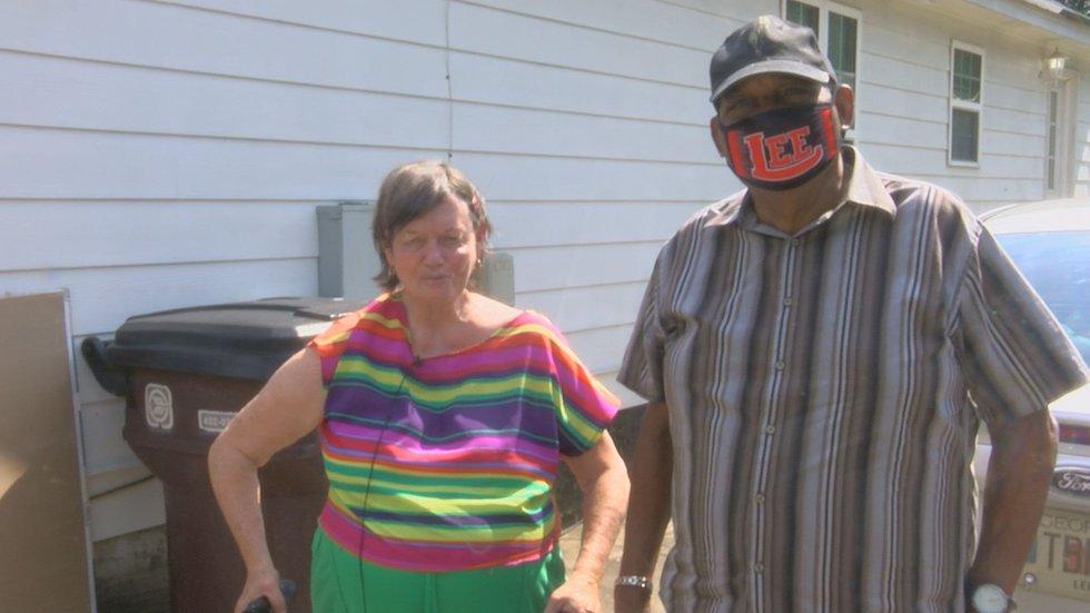Homeowner, Sherry Slaughter got her home repaired by members of Leesburg Methodist Church