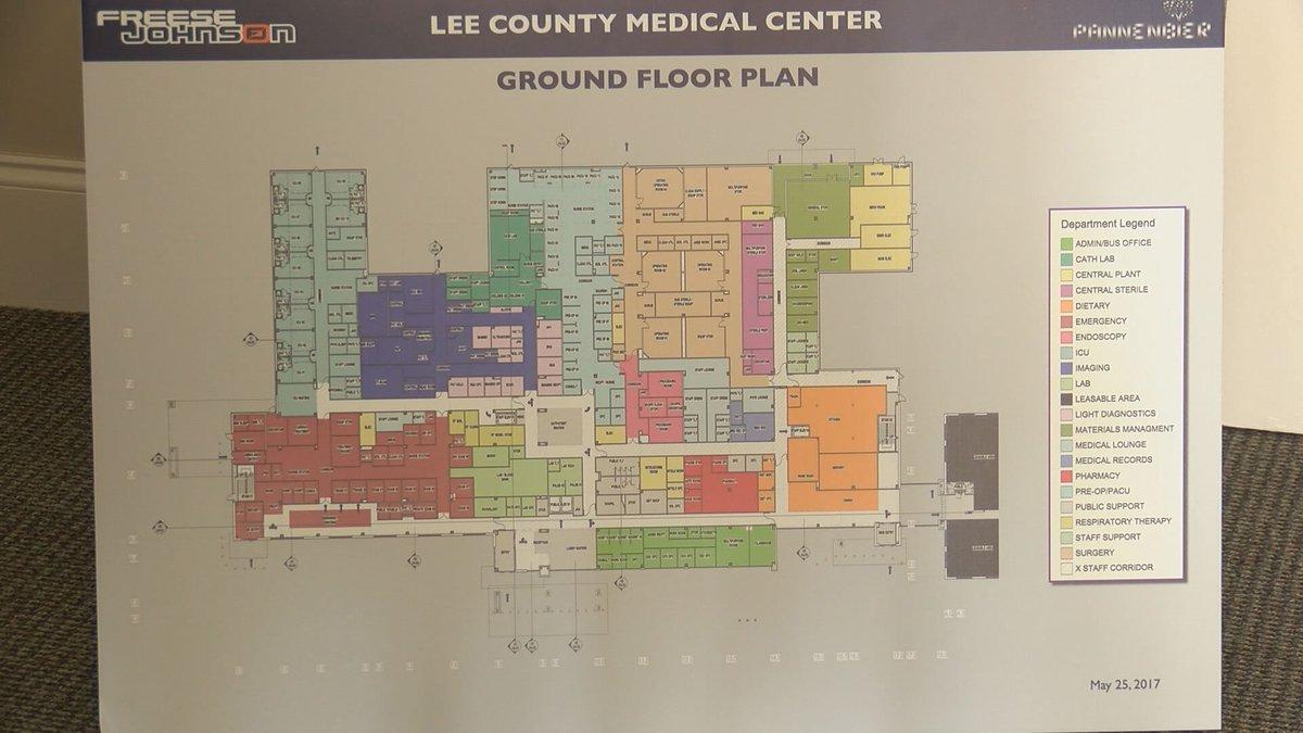 Lee County Medical Center floor plan.