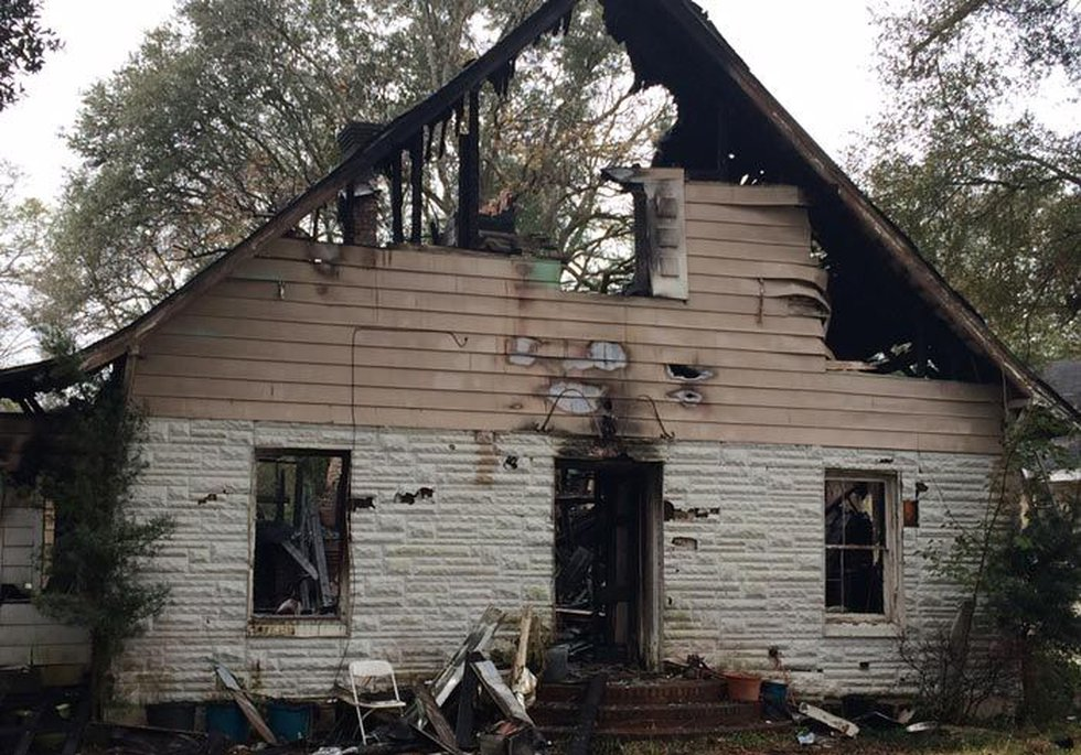 As of 10AM, AFD was monitoring the area for hot spots (Source: WALB)