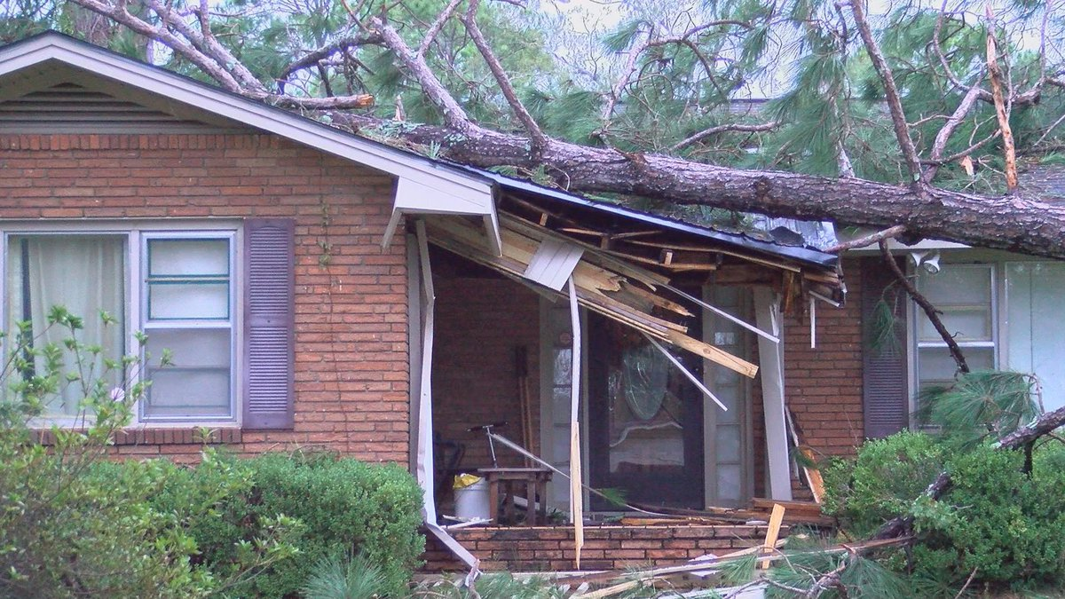 A tree damages a home following Hurricane Michael. (Source: WALB)