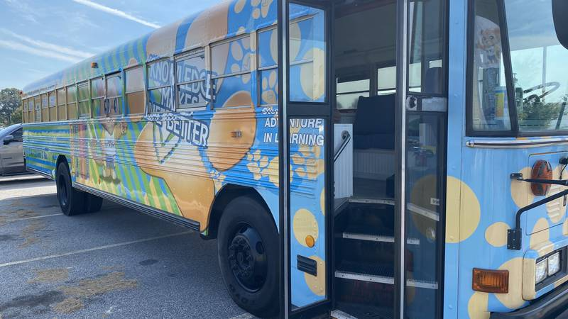 """The """"Cougar Connection"""" mobile learning center is a way for the school system to meet students..."""