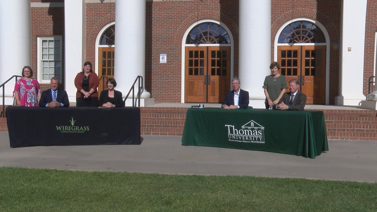Wiregrass Tech and Thomas University Sign New Agreements