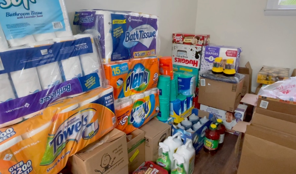 In less than a week, they were able to receive hundreds of donations. That ranges from water,...