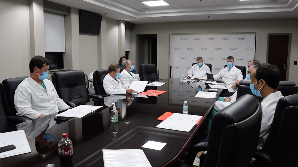 SGMC Meeting for Covid and flu updates.