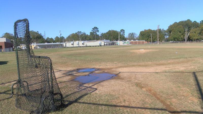 Monroe High's practice baseball field (Source: WALB)