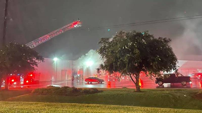 The  TM Poly-Film building caught fire