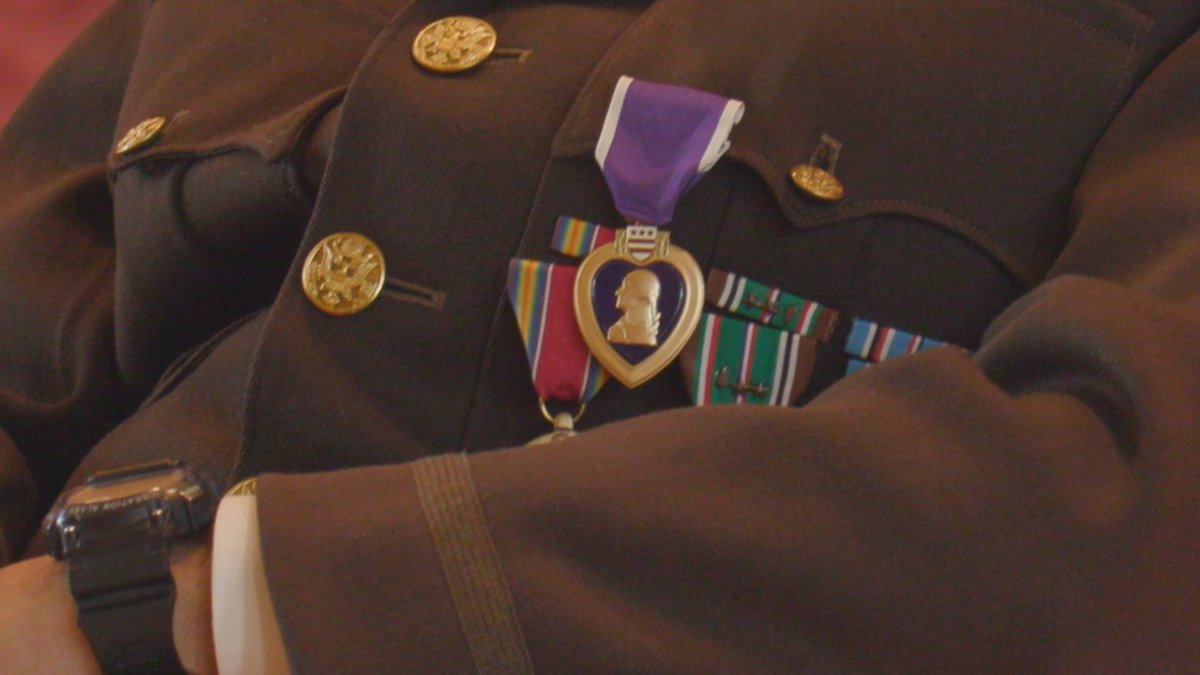 World War II veteran Johnnie Jones received the Purple Heart Saturday, June 26, at Louisiana's...