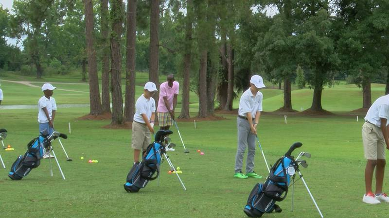 """Eight kids participated in the annual """"Hook A Kid On Golf"""" program this year."""