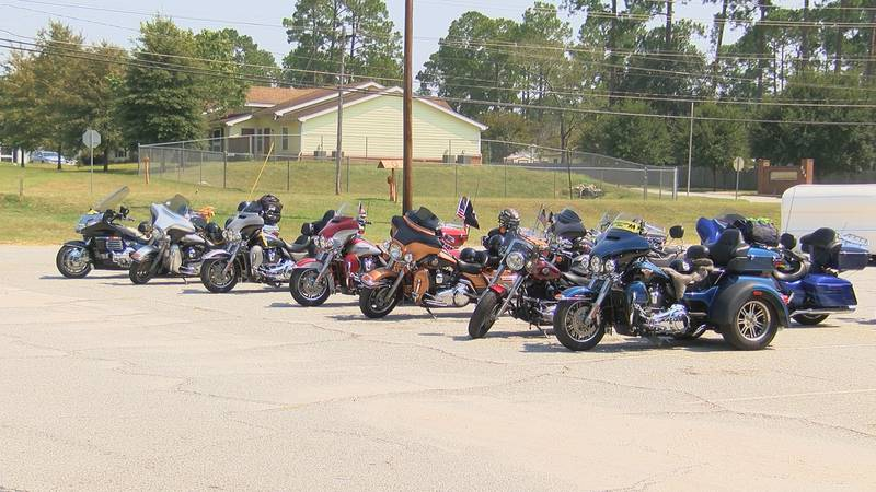 Almost two dozen motorcycles arrived at the American Legion Post 512 in Albany to mark POW/MIA...