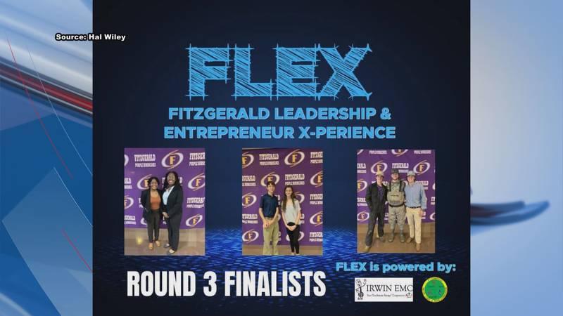 Final three contestants in FLEX program at Fitzgerald High School
