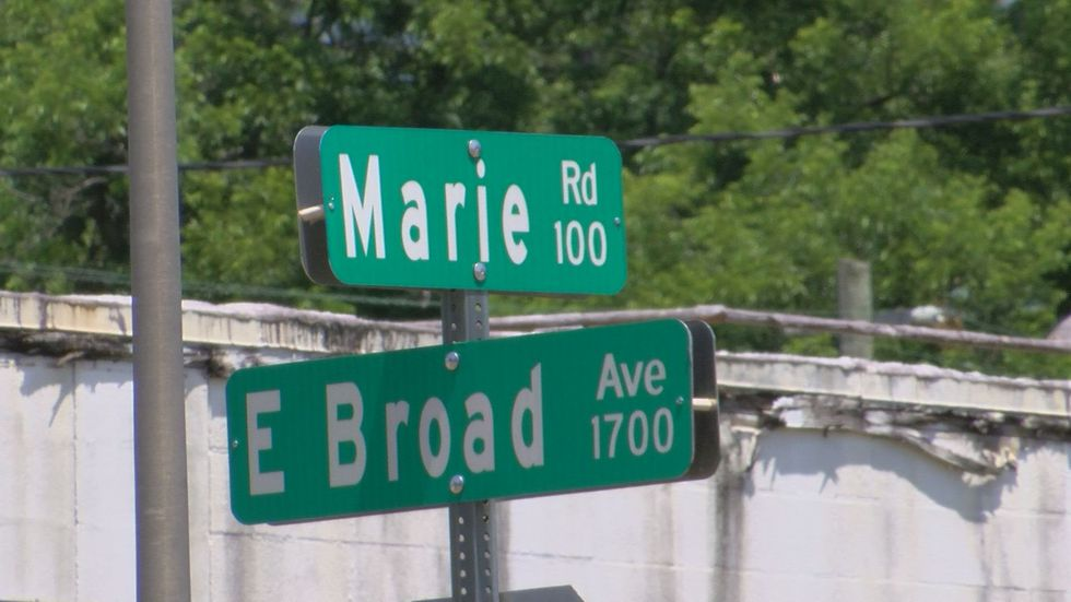 Nelson stayed with the 1 year old child's mother on the 100th block of Marie Rd