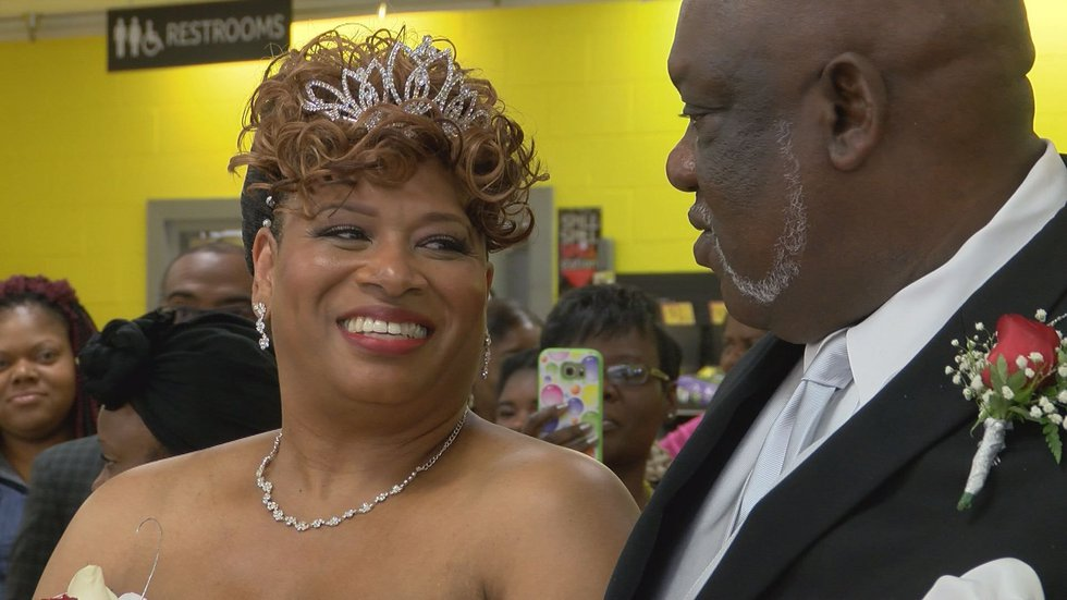 The couple is grateful for Harvey's for helping them with their ceremony. (Source:WALB)