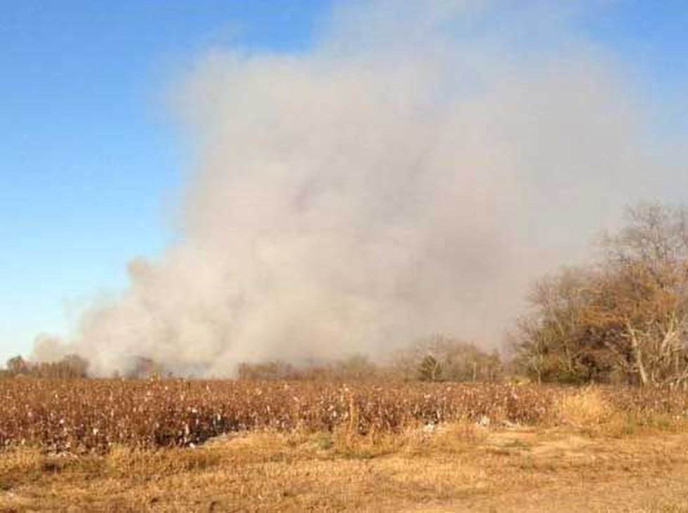 Smoke from wild fire could be seen for miles