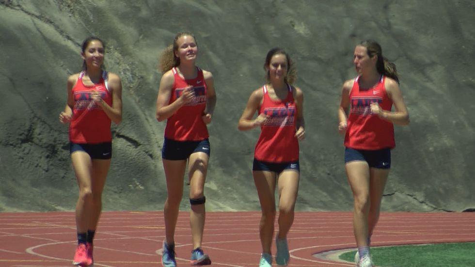 Deerfield-Windsor's girls track and field team