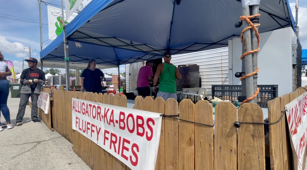 Chris' Alligator Shack has been a staple at the Honey Bee Festival for about 32 years.