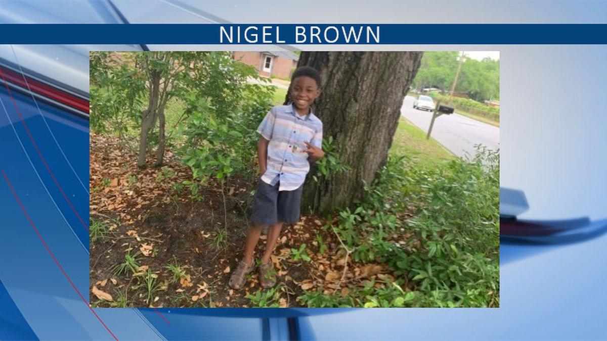 Nigel Brown, 9, died in a drive-by shooting.
