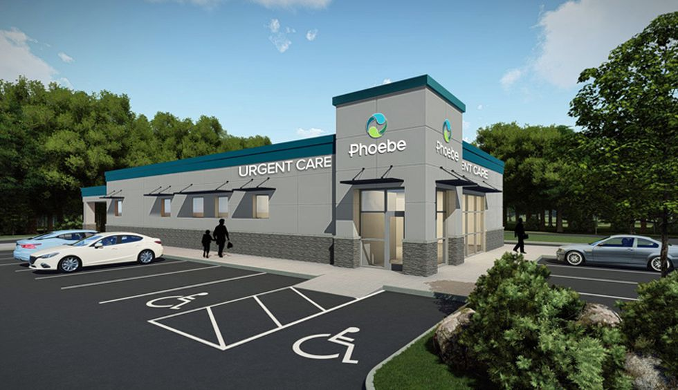 A rendering of Phoebe's new Lee Co. facility