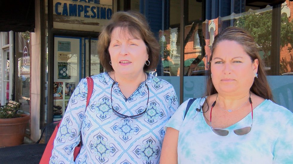 Mom and daughter, Marie Thomas and Suzanne Meadows, evacuated Savannah.