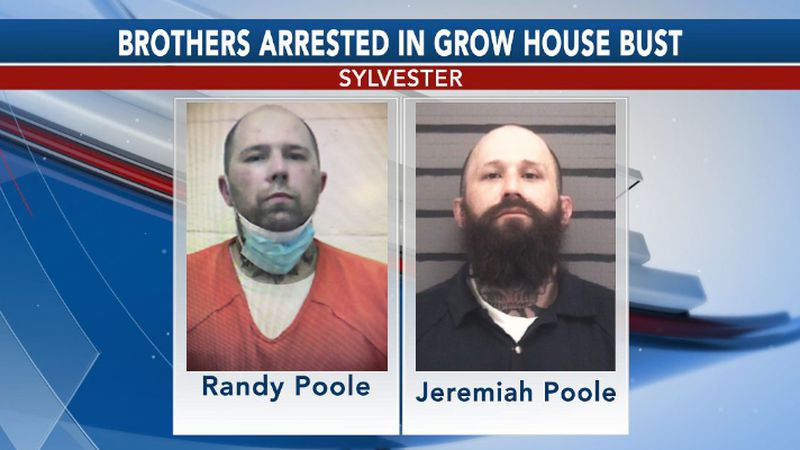 Two brothers were arrested after a grow house operation was busted in Sylvester on Wednesday.