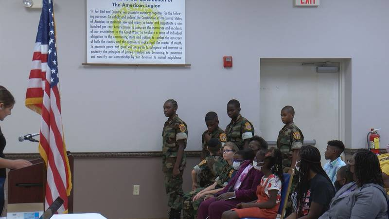 These four new graduates went through 26 hours of reciting information and physical training to...