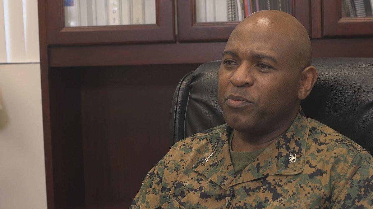 Col. Alphonso Trimble, the Albany Marine Corps Logistics Base commanding officer.