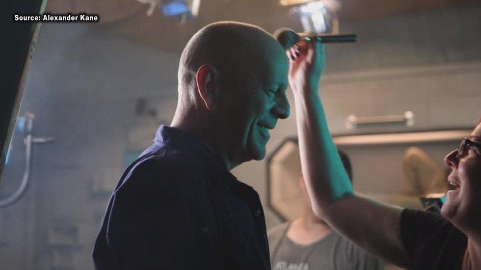 "Bruce Willis filming ""Anti-Life"" in Fitzgerald."