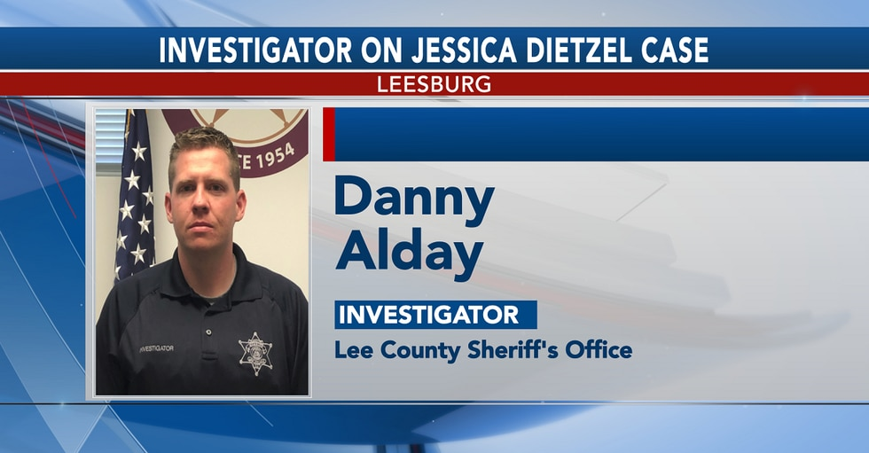 Lee County Sheriff's Office Lt. Danny Alday is the lead investigator in the Jessica Dietzel case.