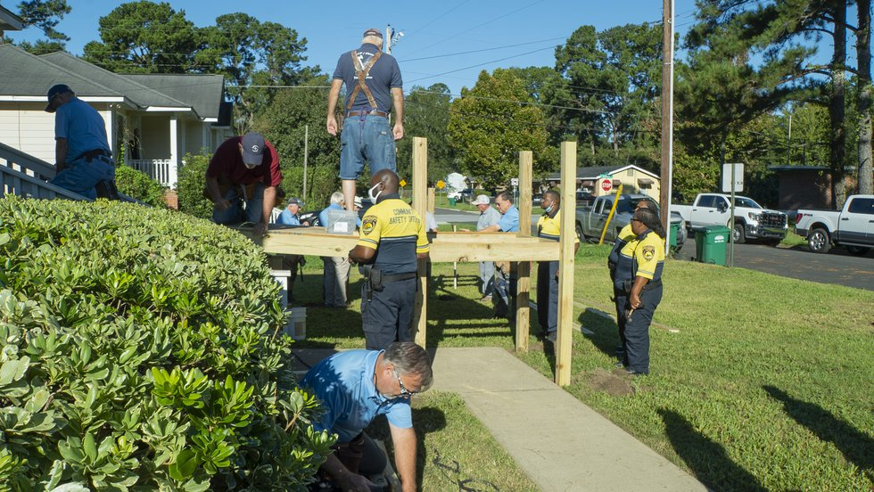 Six APD community service offers and one sergeant stepped in and joined a dozen RSVP volunteers...