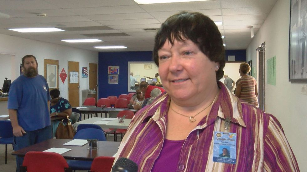 """""""We're hoping Lowndes will be the first county to have 100% turnout,"""" said Deb Cox, Lowndes..."""