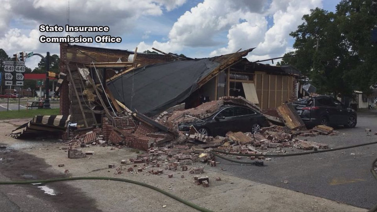 Coffee Corner building in shambles (Source: State Insurance Commission Office)