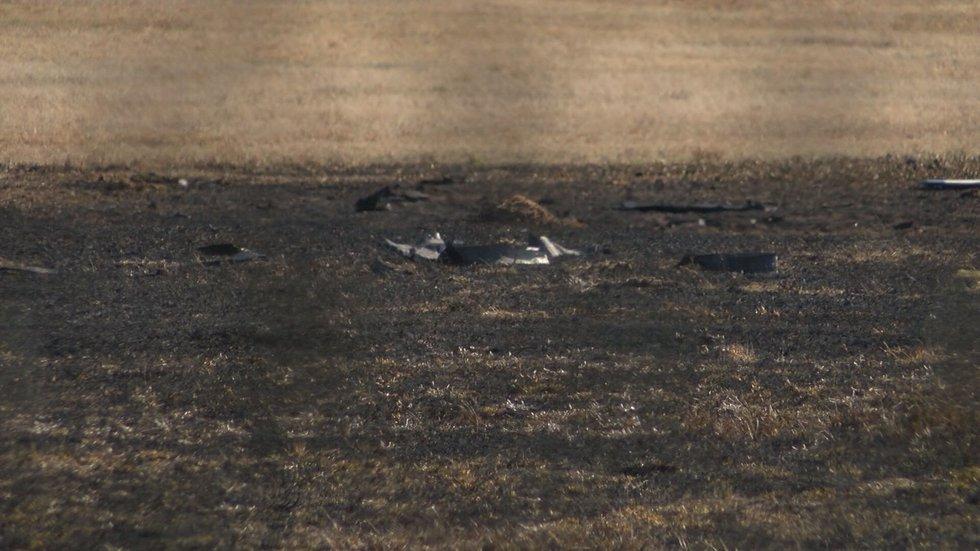 Debris lies near runway (Source: WALB)