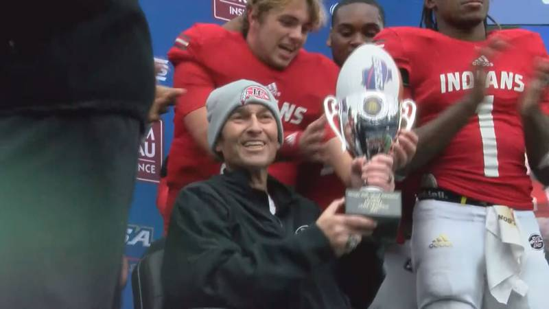 Buddy Nobles winning his first and last state championship with the Irwin County Indians...