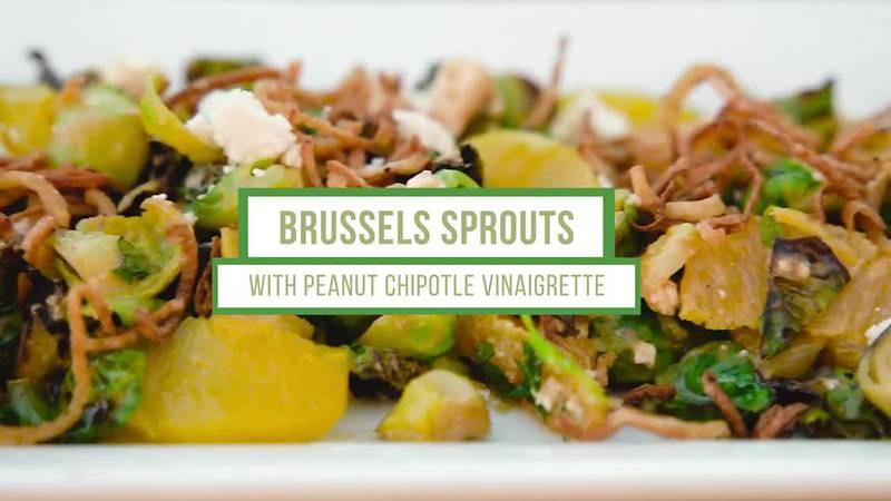 Georgia Peanut Commission – Brussels Sprouts with Peanut Chipotle Vinaigrette