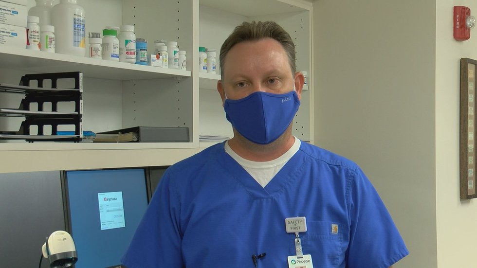 Daniel McMillian is the pharmacy manager for Phoebe's specialty pharmacy.