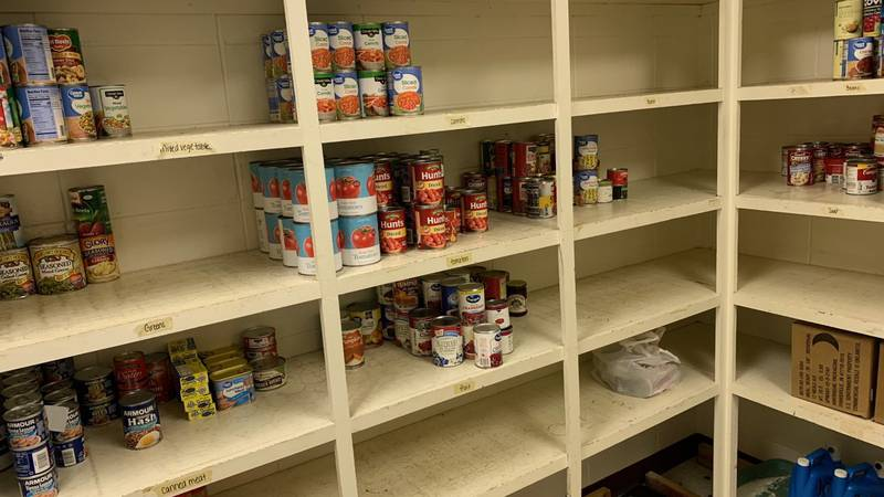 The Salvation Army of Albany's pantry