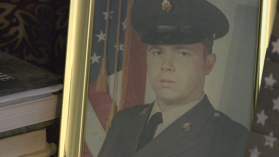 Army veteran Larry Jackson's photo from basic training.