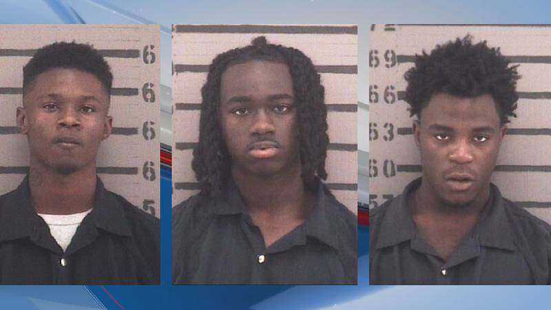 From left to right: Munir Flood, Jakobe King and Kadafi Brown
