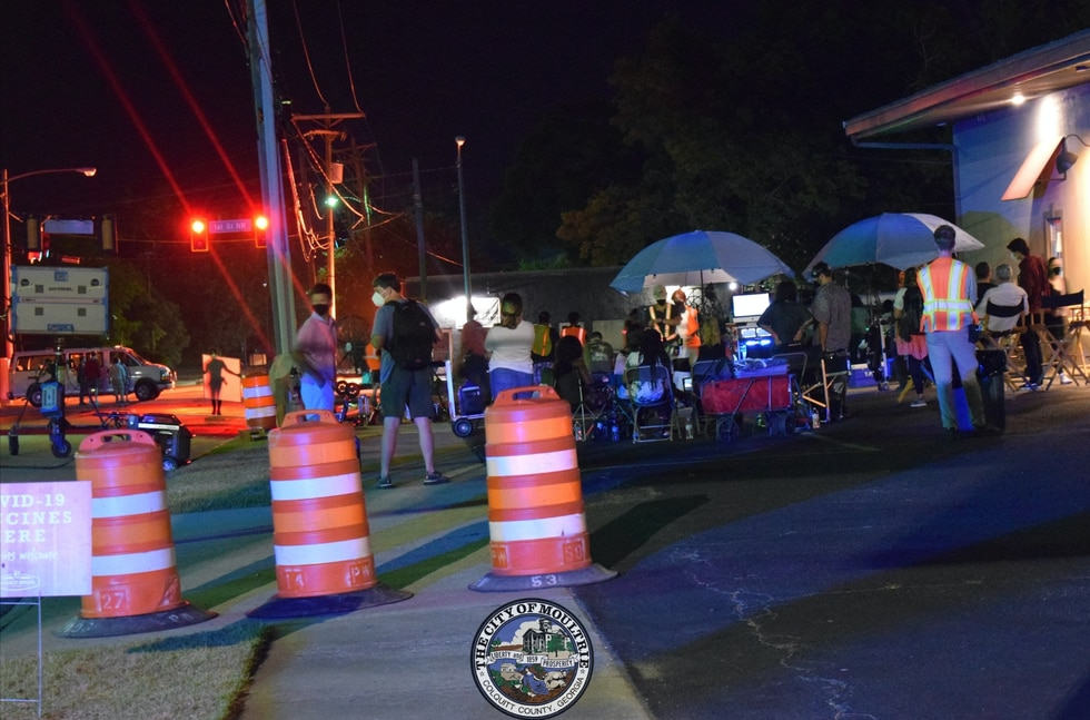 Movie shoot in Downtown Moultrie.