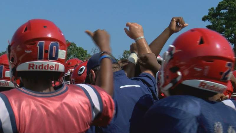 Westover gathers together before the start of practice