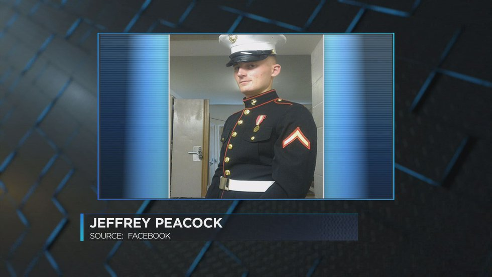 Peacock served in the US Marine Corps. (Source: Facebook)